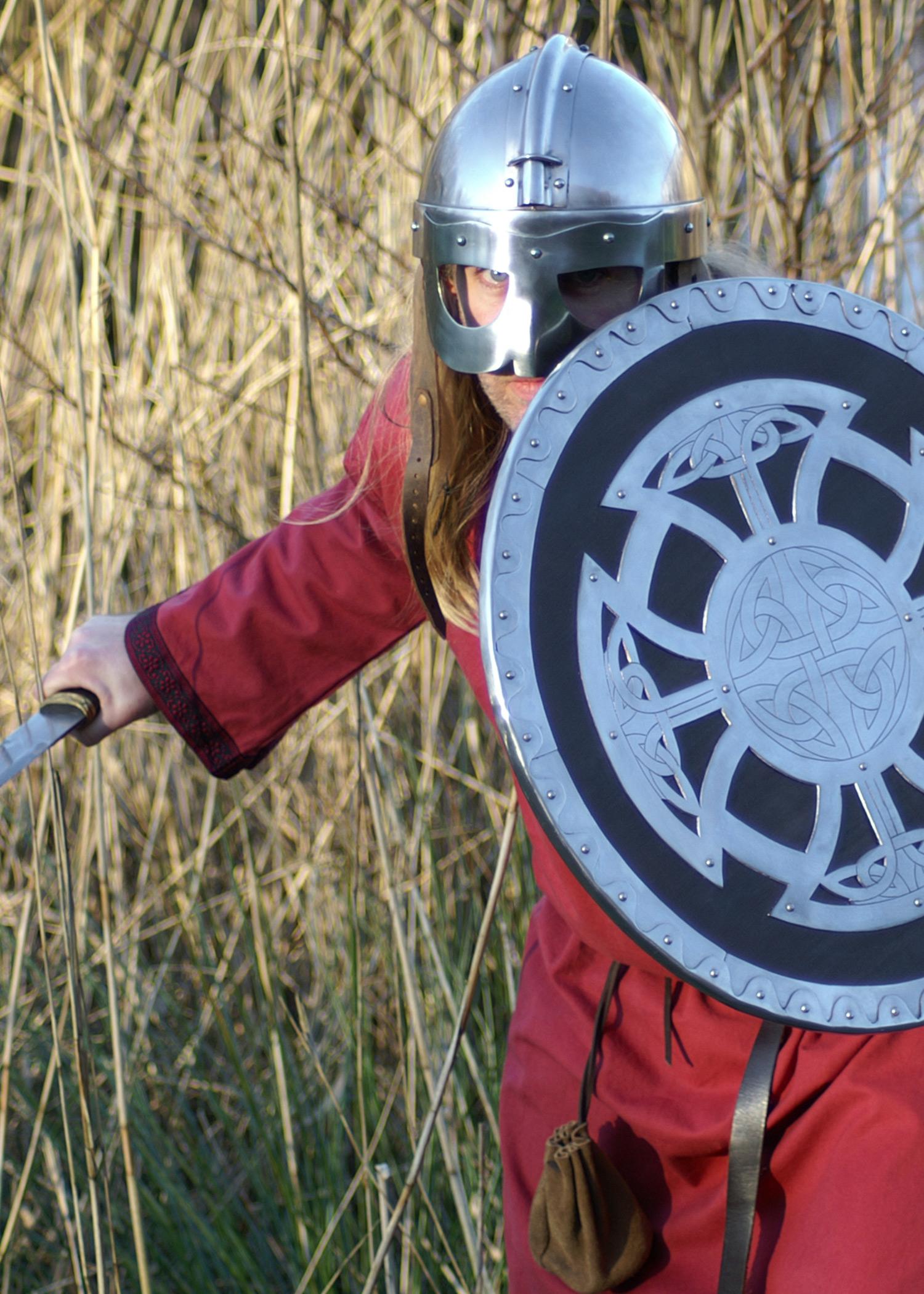 rot,Mittelalter Gewandung LARP Reenactment Römer Tunika mit Bordüre