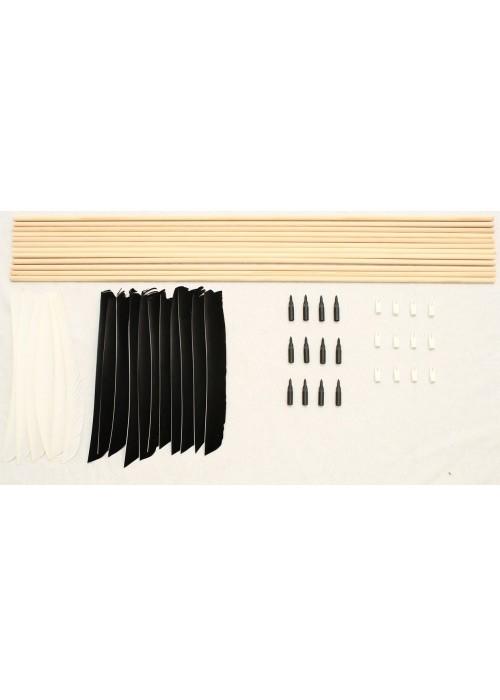 pfeilbau set weiss schwarz 11 32 pfeil mittelalter bogen. Black Bedroom Furniture Sets. Home Design Ideas