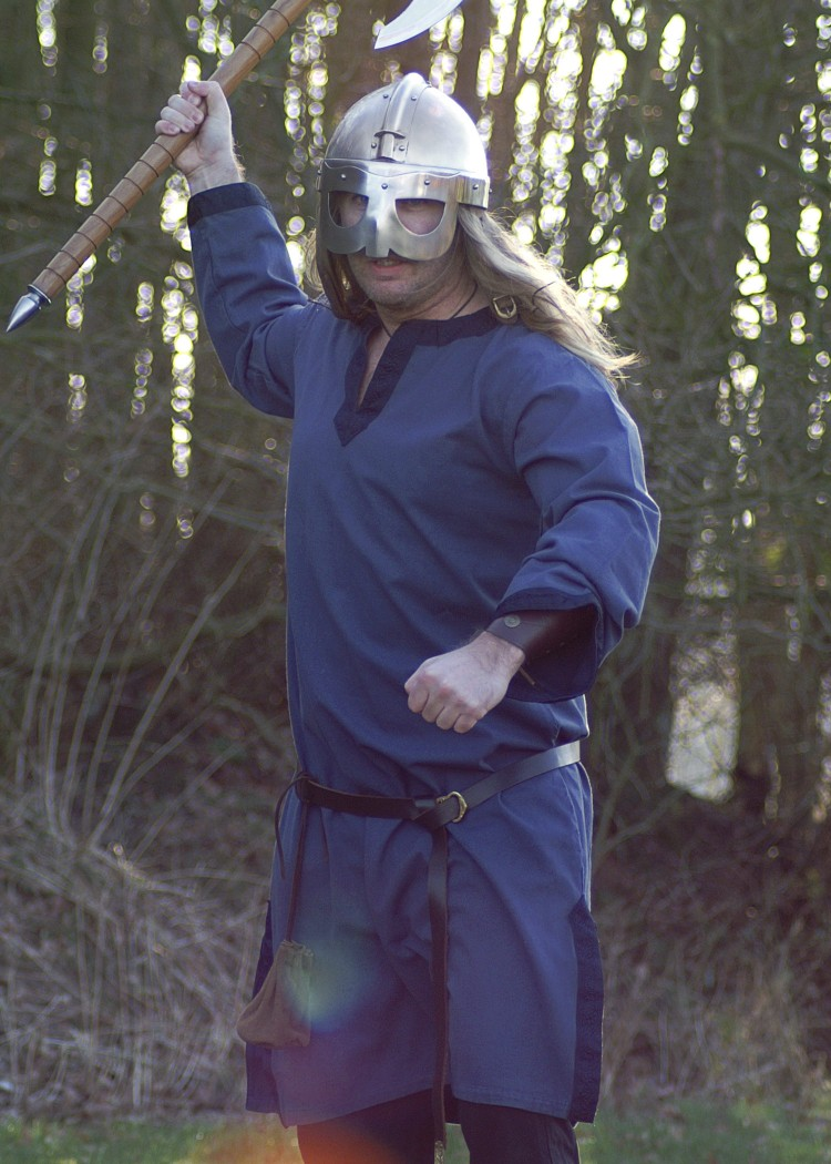 Tunika mit Bordüre, blau - Battle-Merchant - Schwerter, Kettenhemden ...