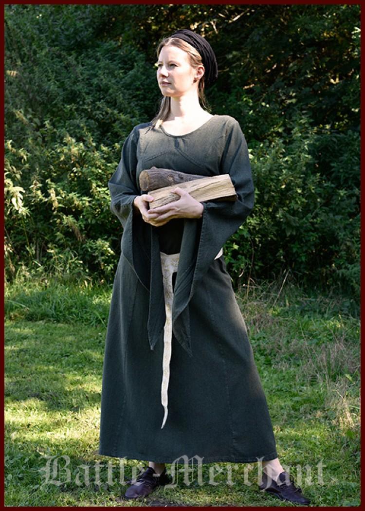 mittelalterliches kleid neira gr n battle merchant schwerter kettenhemden helme. Black Bedroom Furniture Sets. Home Design Ideas