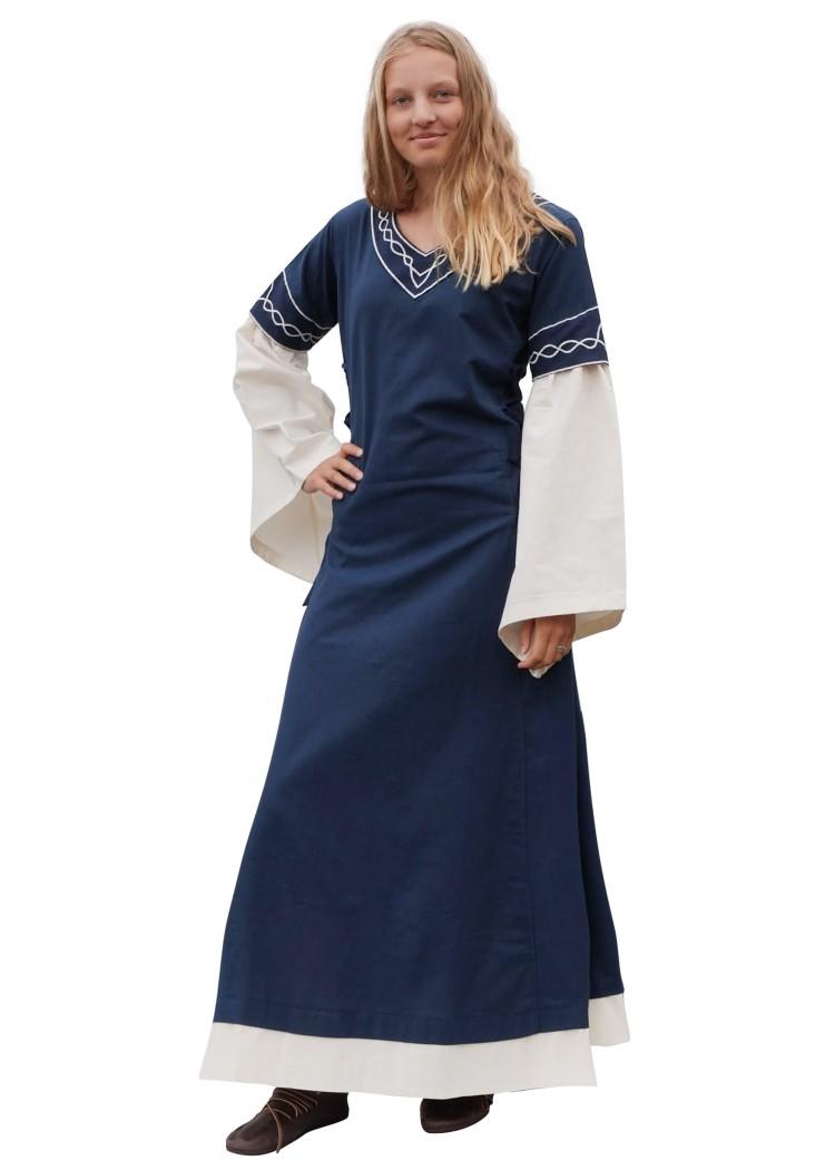 4a11a5e008ddb2 Mittelalter Kleid Alvina, blau/natur - Battle-Merchant - Schwerter ...