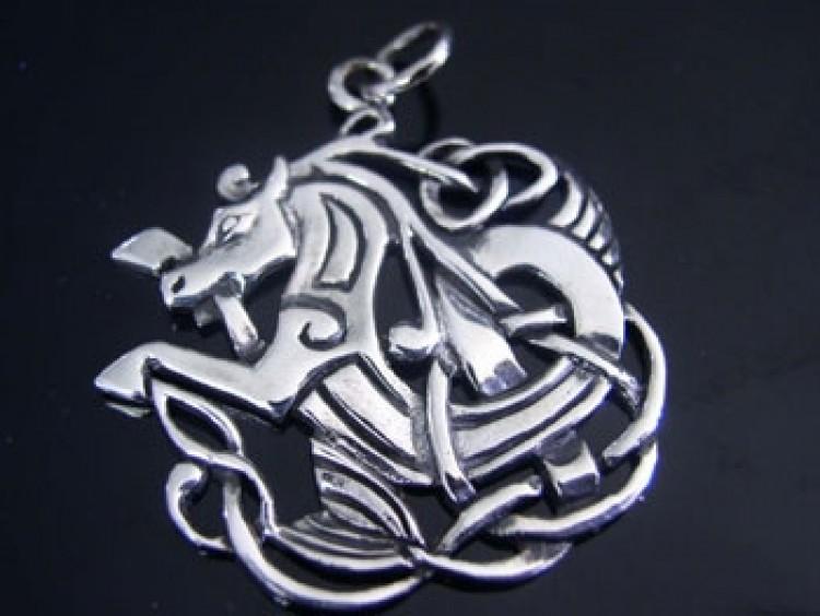 Pendant celtic horse silver battle merchant we supply pendant celtic horse silver aloadofball Images