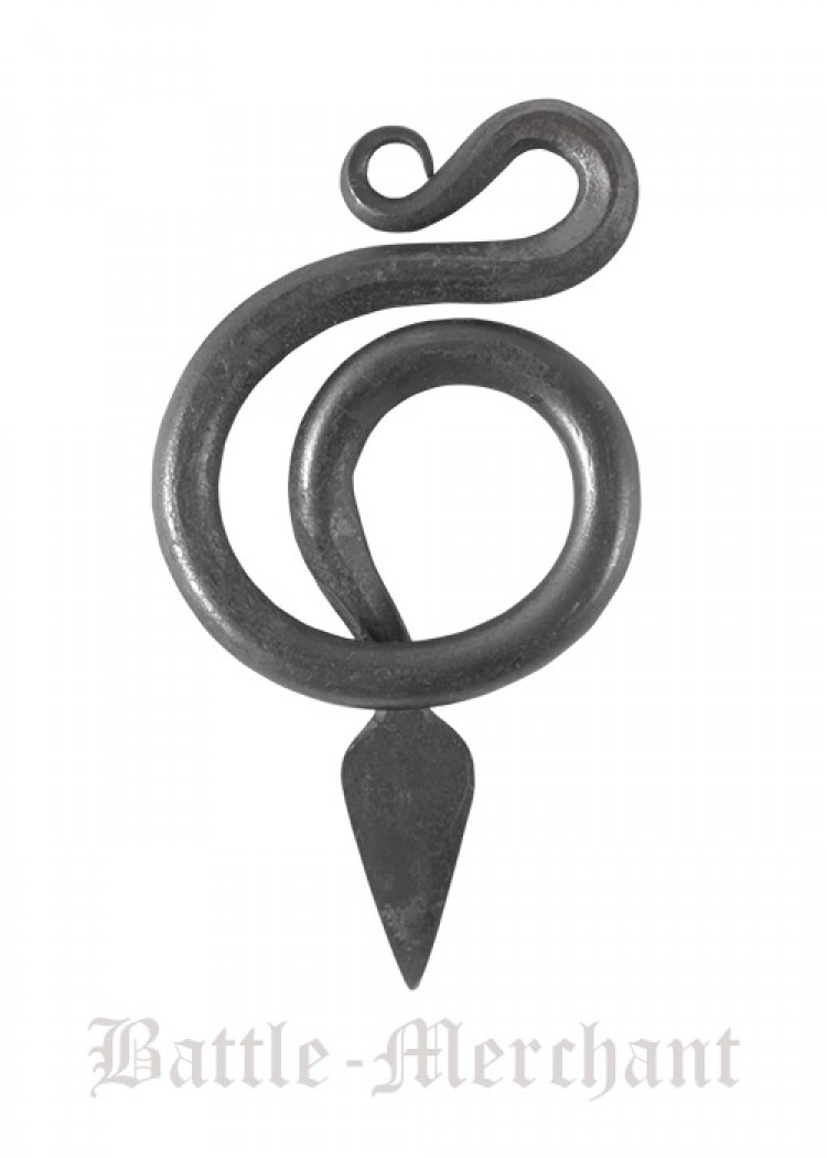 Snake pendant hand forged steel snake serpent pendant viking snake pendant hand forged steel mozeypictures Image collections