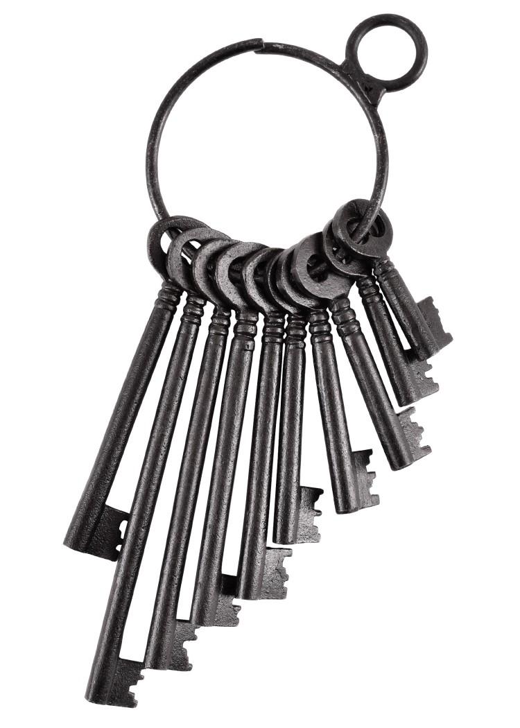size 40 566fb 3e827 Rustikaler Schlüsselbund mit 10 Schlüsseln