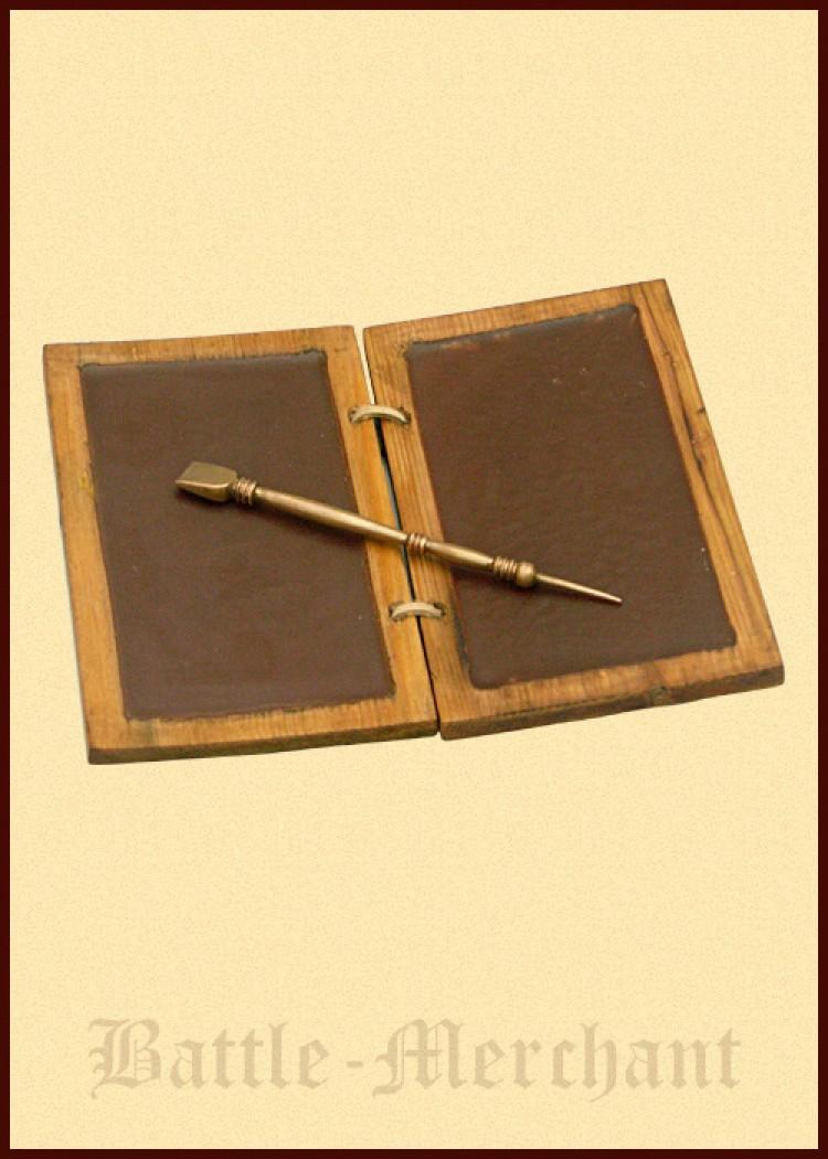 schreibtafel aus wachs und holz mit bronzestift rom r m ebay. Black Bedroom Furniture Sets. Home Design Ideas