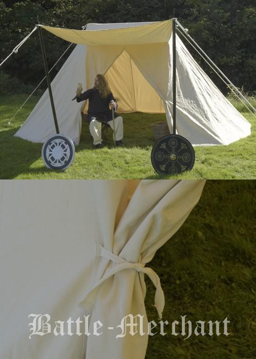 Saxon Tent Jorvik 4 x 6 m 425 gsm natural colour & Saxon Tent Jorvik 4 x 6 m Medieval Tent Historical Tent Viking ...