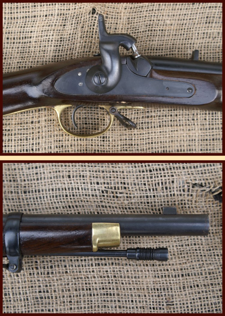 3-Band Enfield Rifle Muskete Modell 1853, mit Tower 1854 Prägung