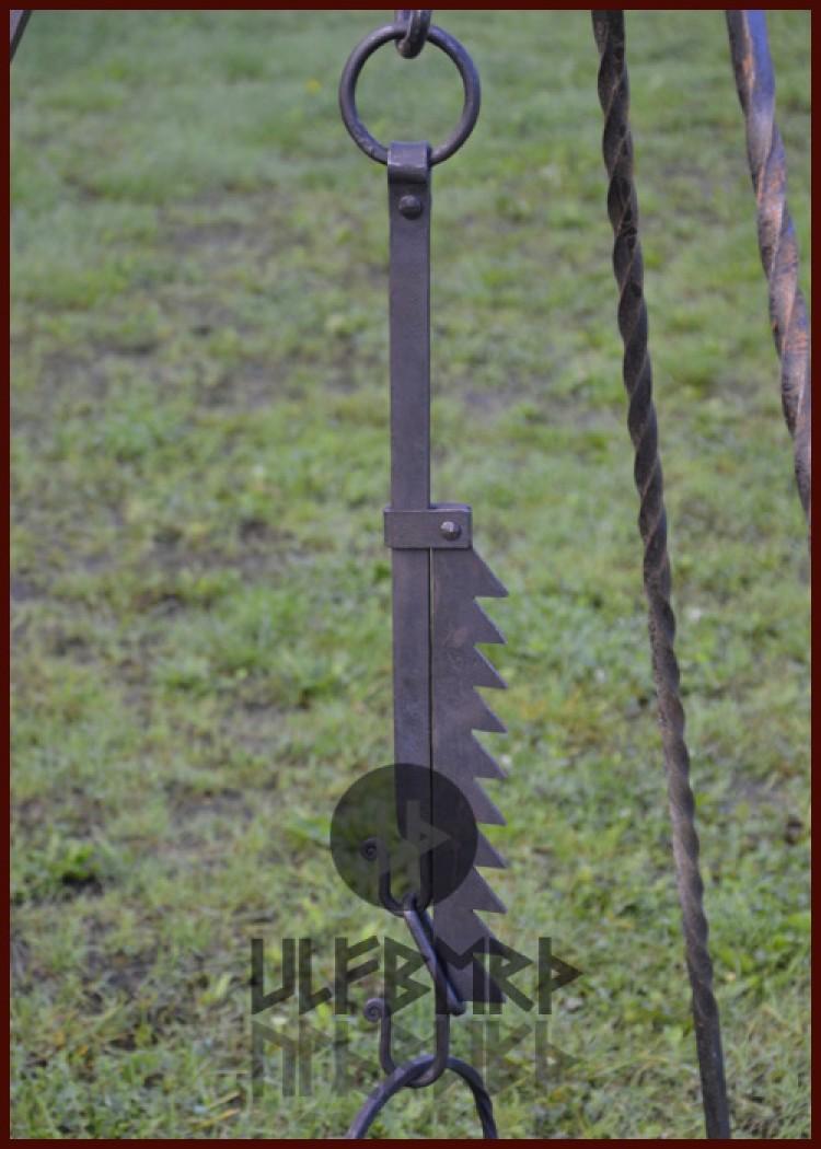 handgeschmiedet ULF-CP-07 verstellbarer Kesselhaken Hale
