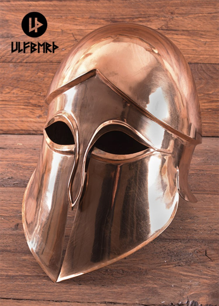 korinthischer helm aus bronze hoplitenhelm battle. Black Bedroom Furniture Sets. Home Design Ideas