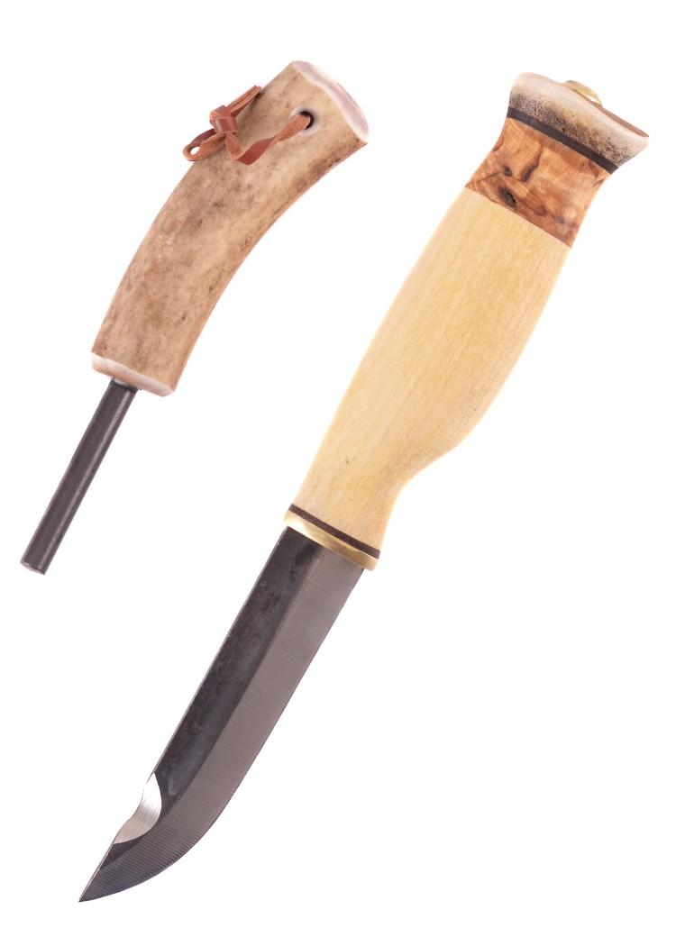 Hunting knife with Fire Stick, Wood-Jewel
