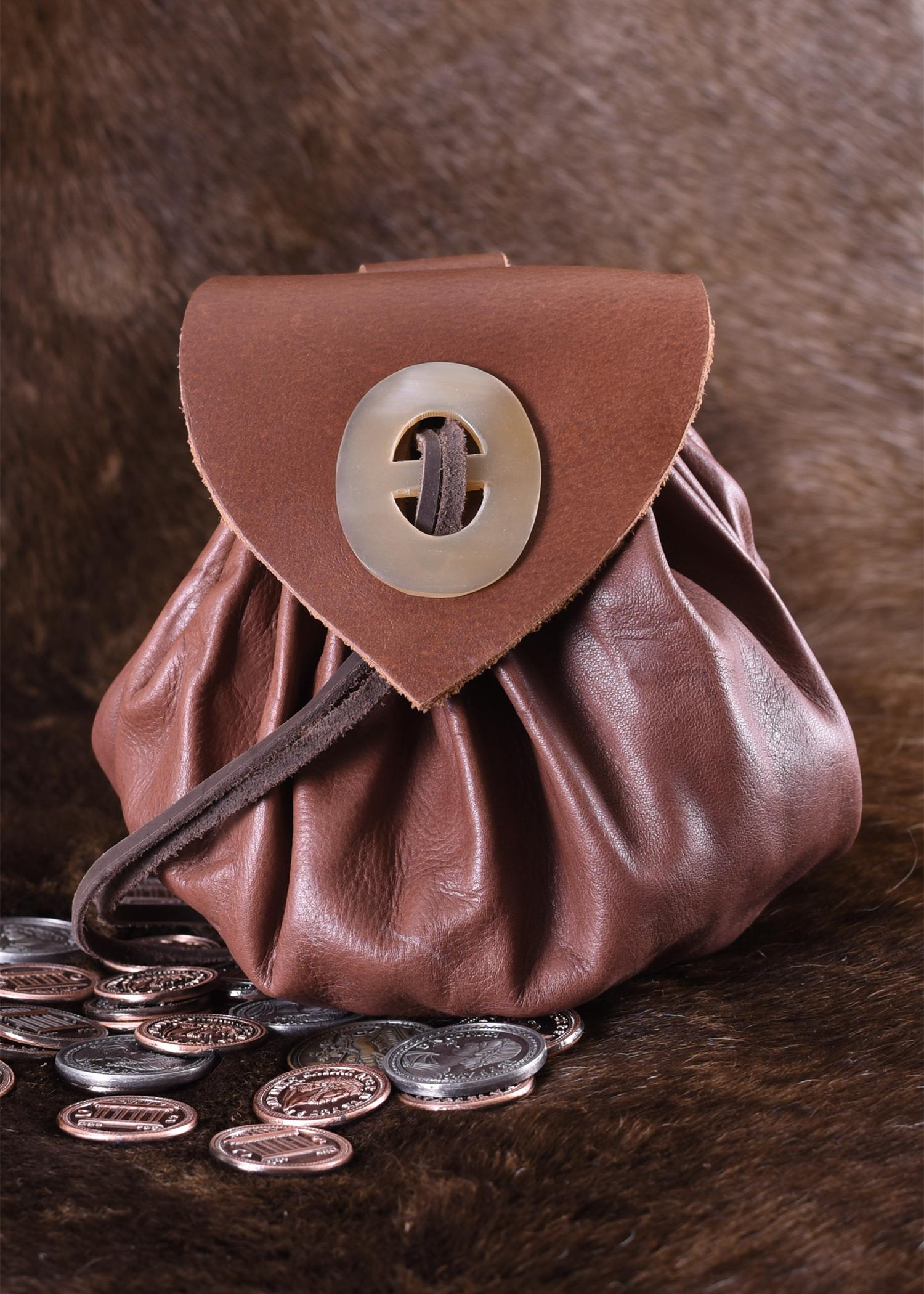 Lederbeutel Mittelalter Larp Geldbeutel Geldbörse Tasche Geldkatze Schaukelpferd
