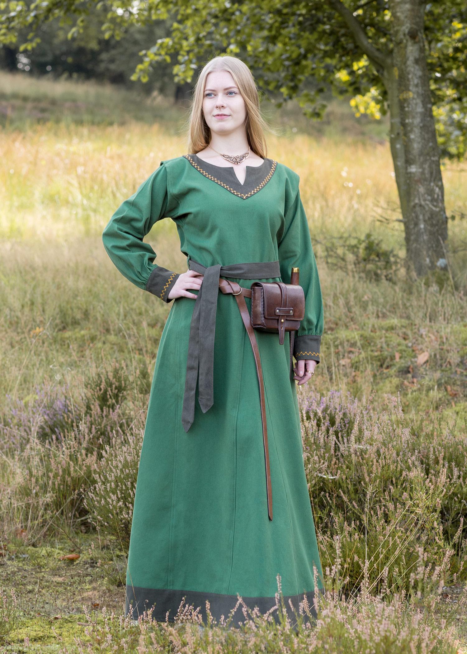 wikinger kleid jona, grün